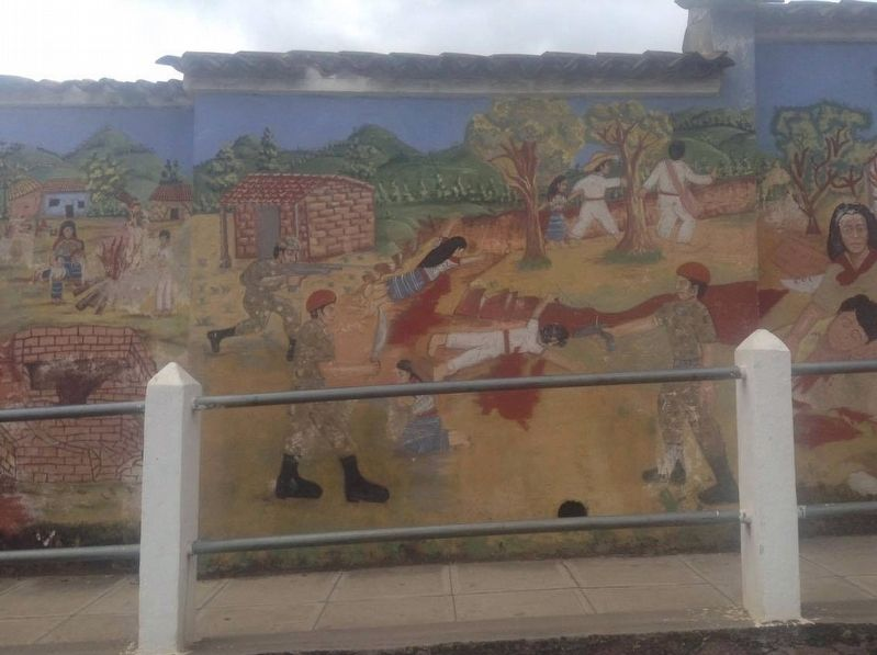 San Juan Comalapa Mural on the Violence of the 1980s image. Click for full size.