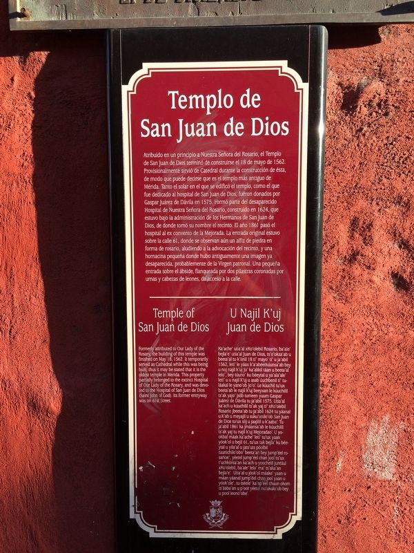 Temple of San Juan de Dios Marker image. Click for full size.