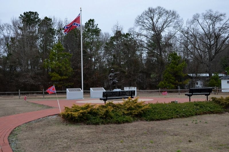 General Joseph E. Johnston Statue and Memorial Area image. Click for full size.