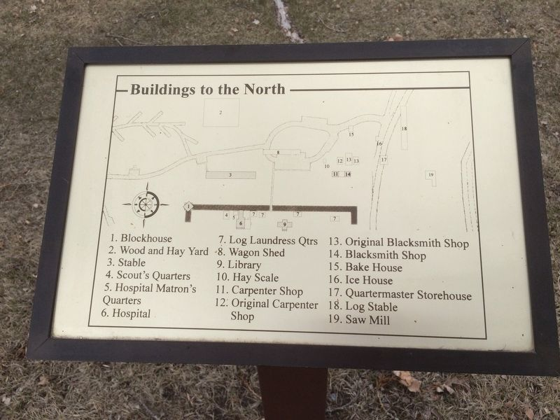 Map of buildings to the north including the Library. image. Click for full size.