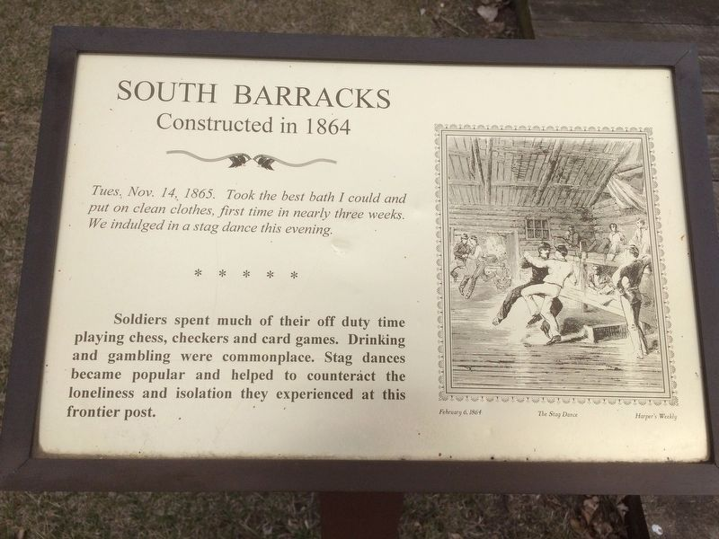 South Barracks Marker image. Click for full size.