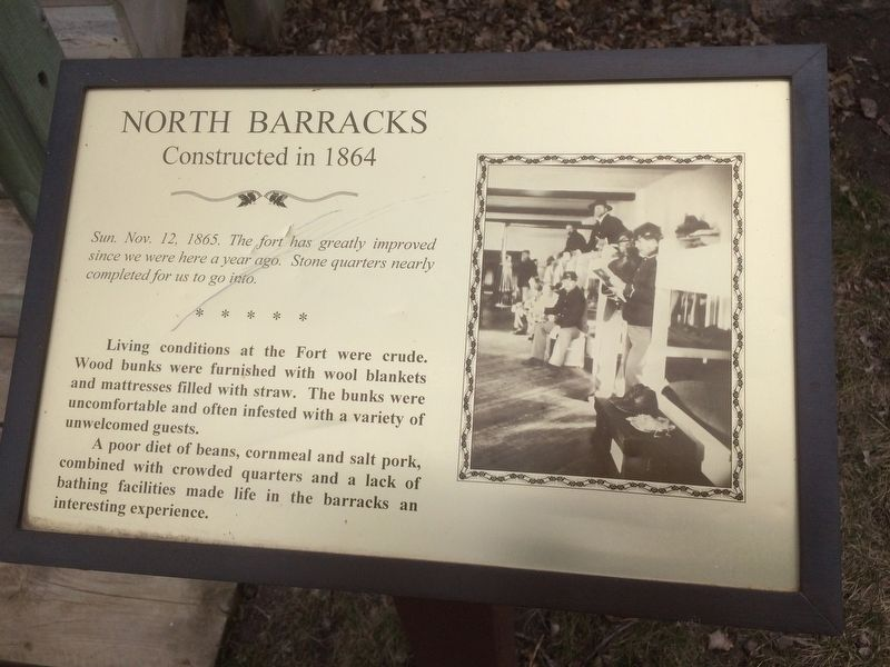 North Barracks Marker image. Click for full size.