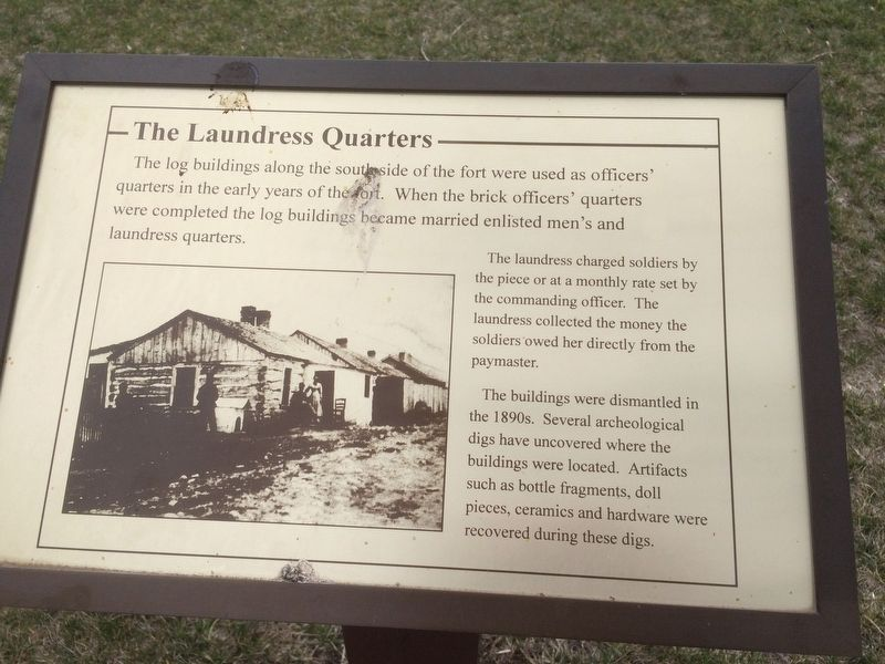 The Laundress Quarters Marker image. Click for full size.