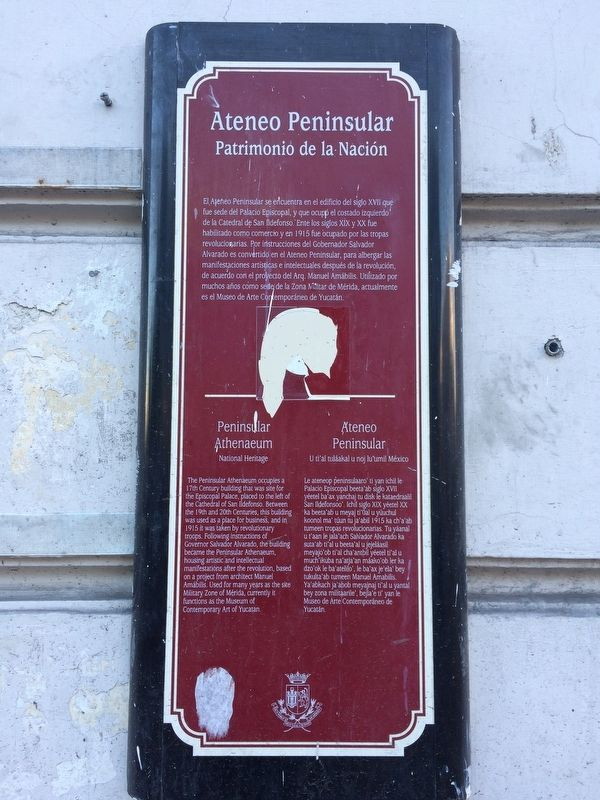 The Peninsular Athenaeum Marker image. Click for full size.