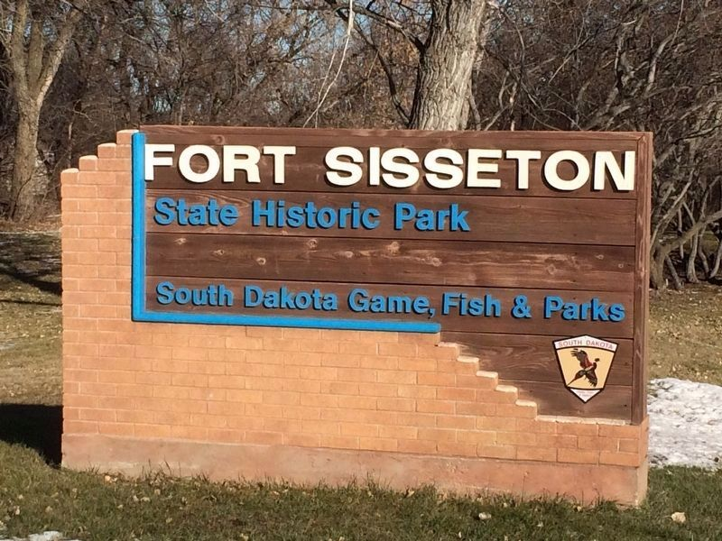 Fort Sisseton State Historic Park Sign image. Click for full size.