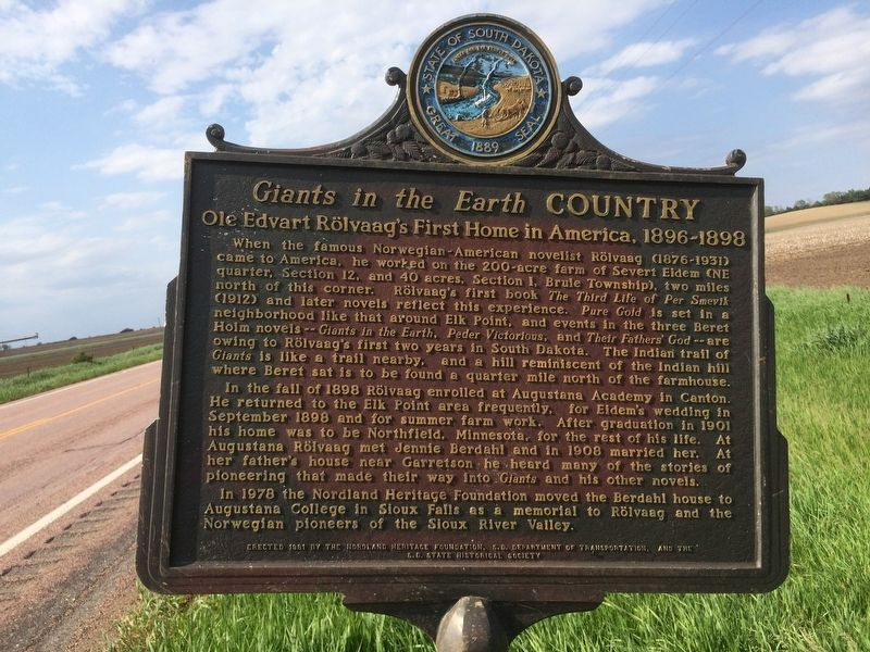 Giants in the Earth Country Marker image. Click for full size.