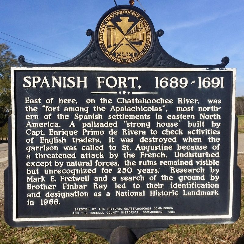 Spanish Fort, 1689-1691 Marker image. Click for full size.