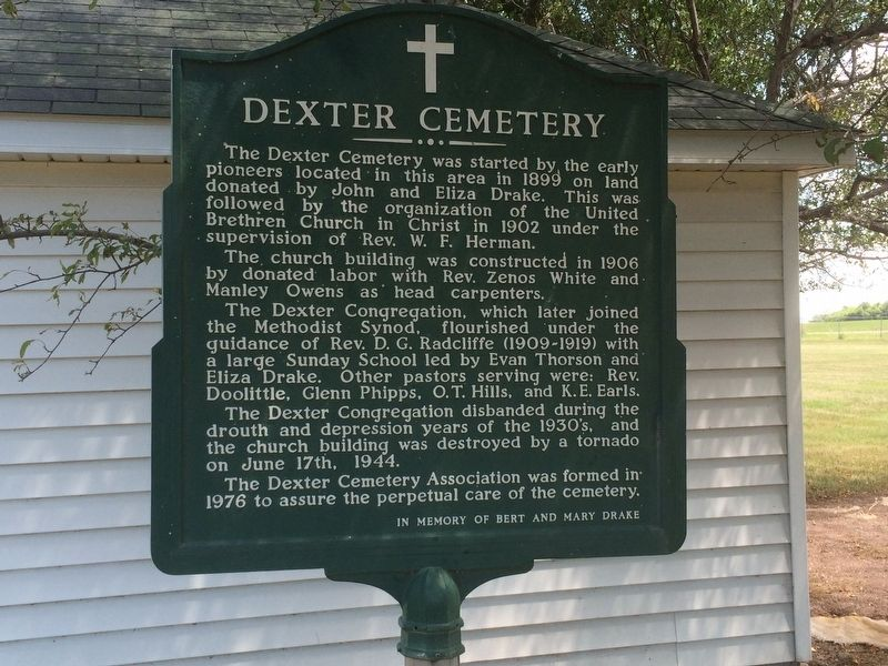 Dexter Cemetery Marker image. Click for full size.
