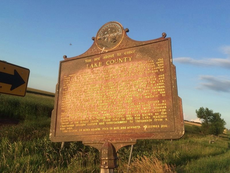 Lake County/Miner County Marker image. Click for full size.