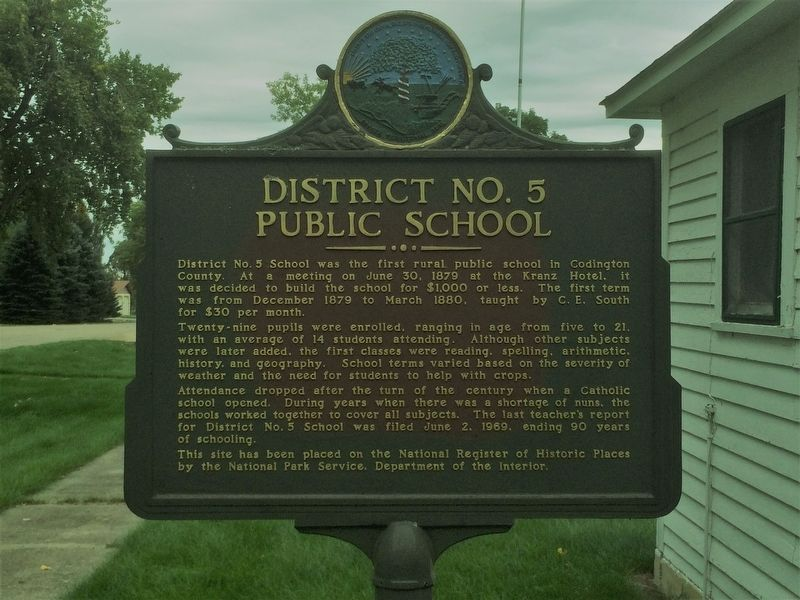 District No. 5 Public School Marker image. Click for full size.