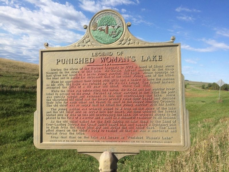 Punished Woman's Lake Marker image. Click for full size.