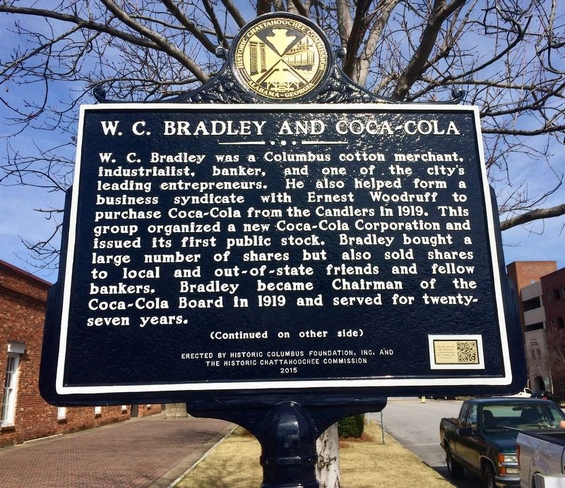 W. C. Bradley and Coca-Cola Marker (Side 1) image. Click for full size.