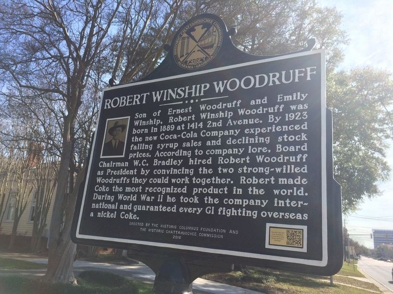 Robert Winship Woodruff Marker image. Click for full size.