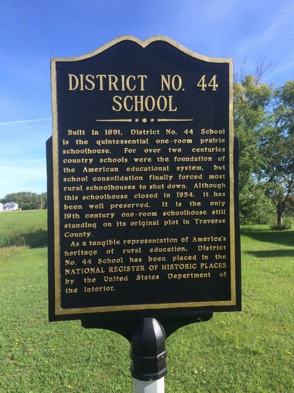 District No. 44 School Marker image. Click for full size.