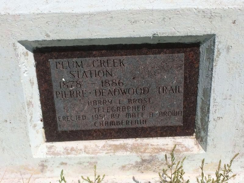 Plum Creek Station Marker image. Click for full size.