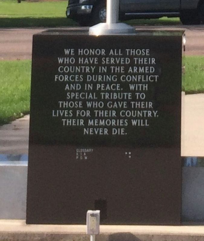 Veteran's Memorial Marker (back) image. Click for full size.