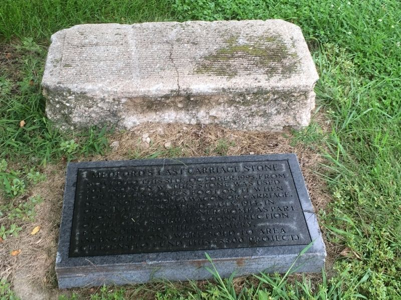 Medford's Last Carriage Stone Marker image, Touch for more information