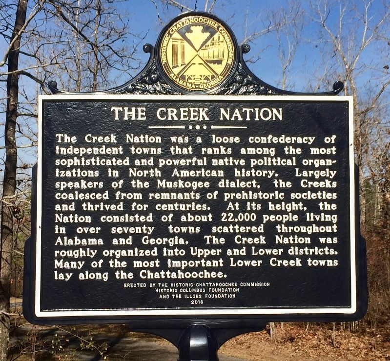 The Creek Nation Marker image. Click for full size.