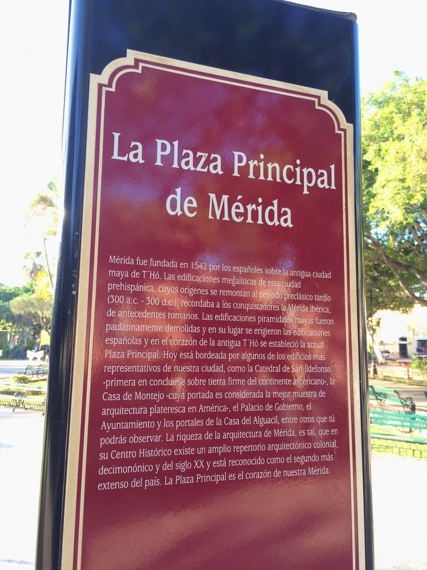 The Main Square of Merida Marker image. Click for full size.