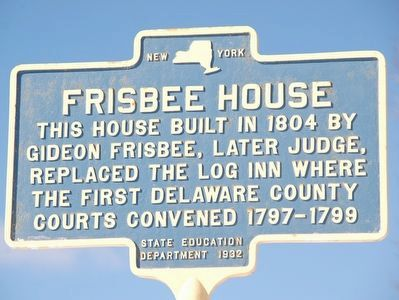 Frisbee House Marker image. Click for full size.