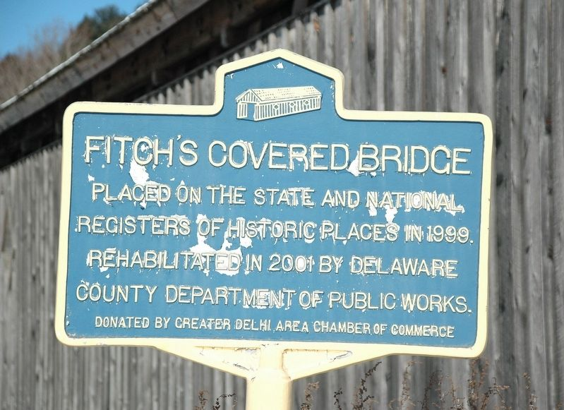 Fitch's Covered Bridge Marker image. Click for full size.