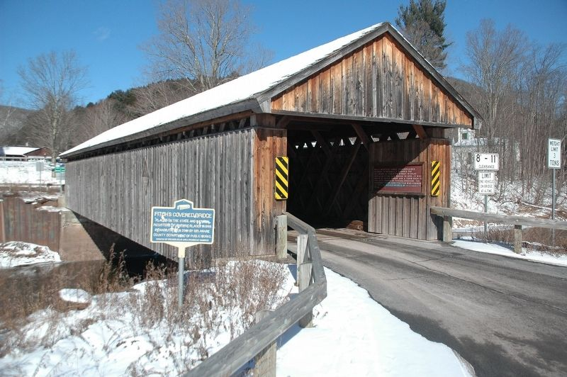 Fitche's Covered Bridge & Marker image. Click for full size.