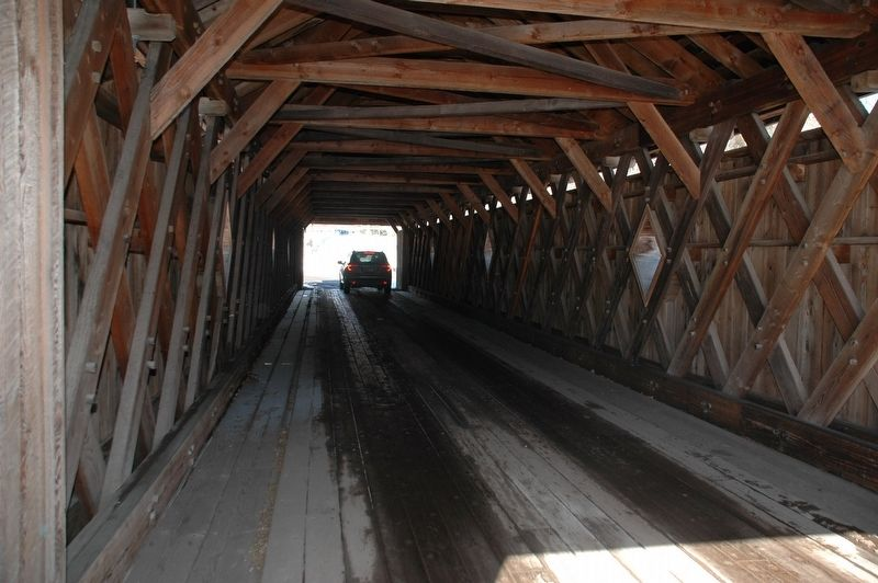Fitches Covered Bridge Interior image. Click for full size.