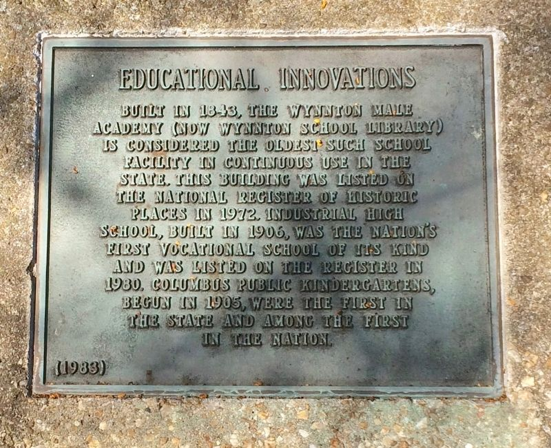 Educational Institutions Marker image. Click for full size.