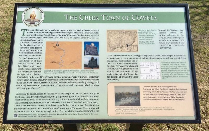 The Creek Town of Coweta Marker image. Click for full size.