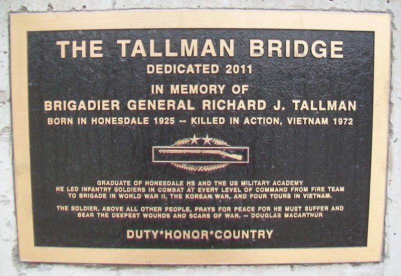 The Tallman Bridge Marker image. Click for full size.