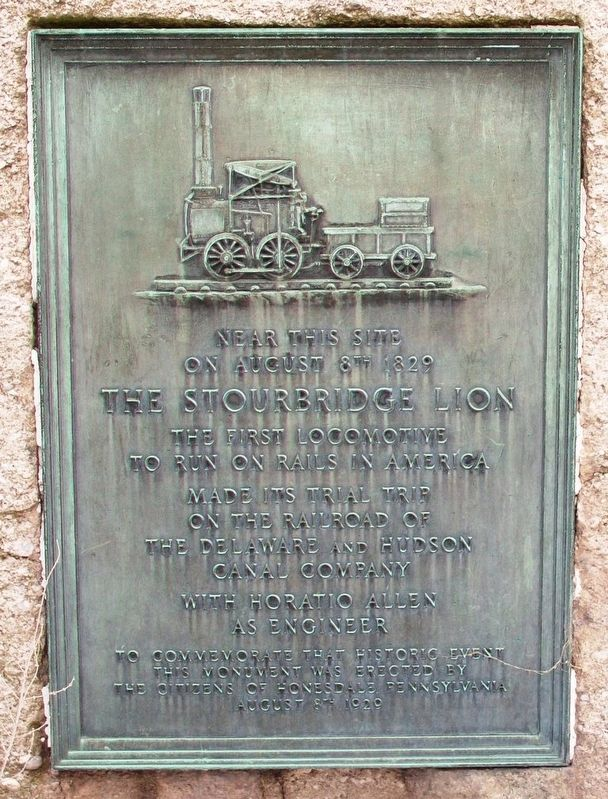 The Stourbridge Lion Marker image. Click for full size.