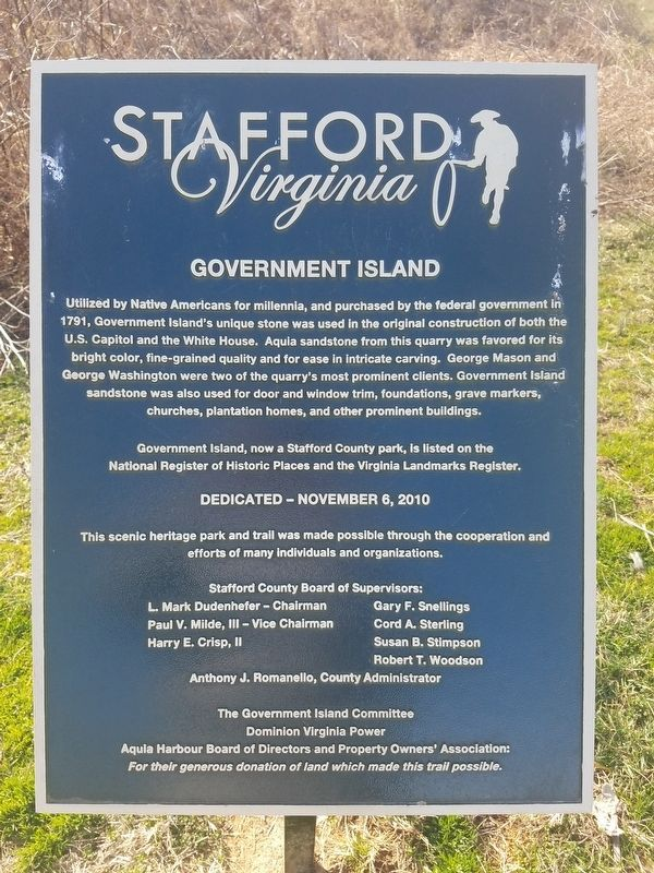 Government Island Marker image. Click for full size.