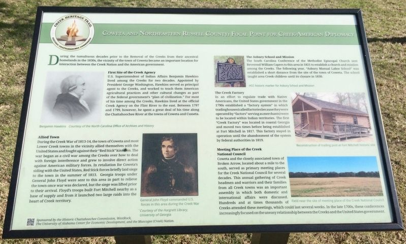 Coweta and Northeastern Russell County: Marker image. Click for full size.