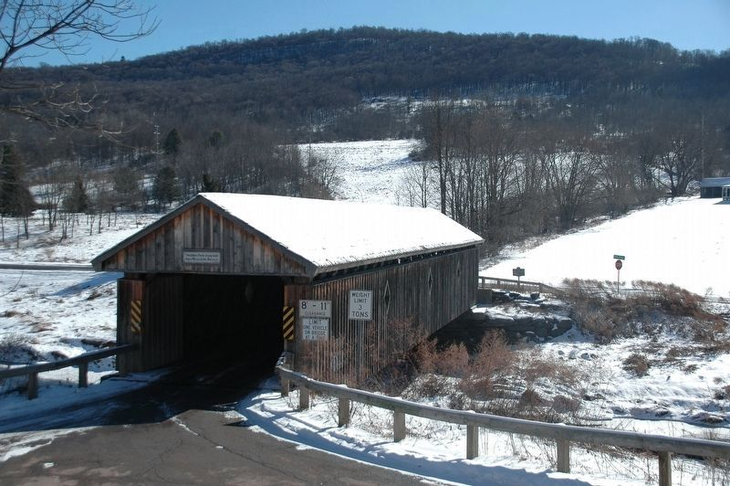 Fitch's Covered Bridge Viewed from Rt 10 image. Click for full size.
