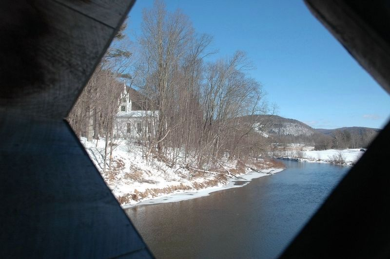 Fitche's Covered Bridge Window image. Click for full size.