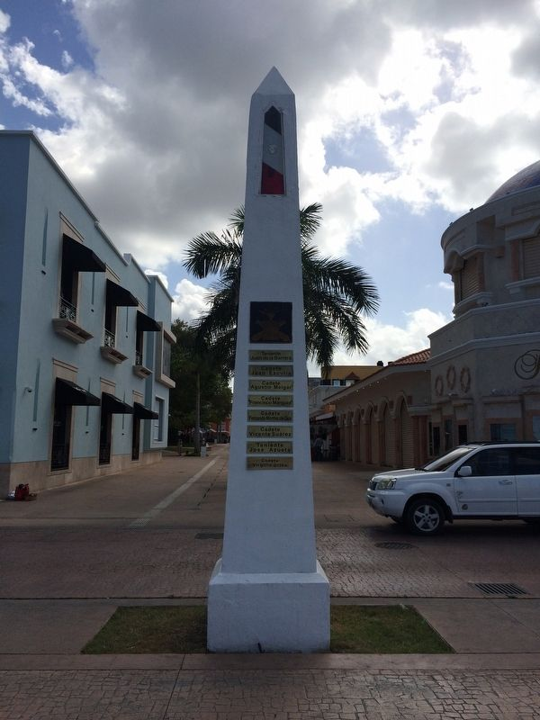 Cozumel's Tribute to the Defenders of the Nation Marker Reverse image. Click for full size.