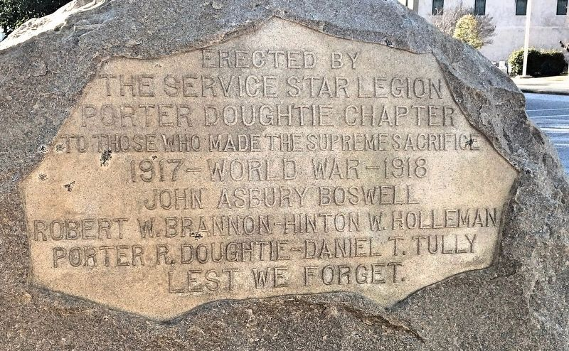 World War I Doughboy Monument image. Click for full size.