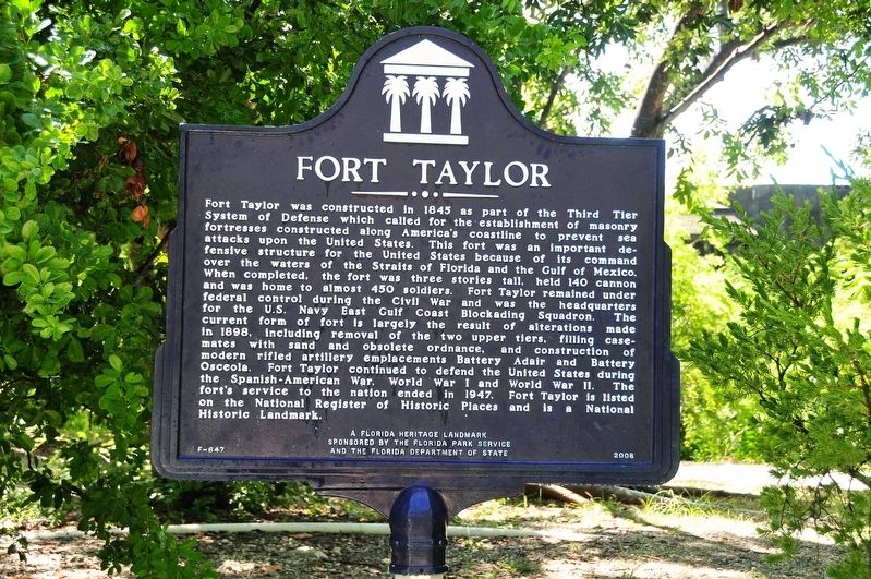 Fort Taylor Marker image. Click for full size.