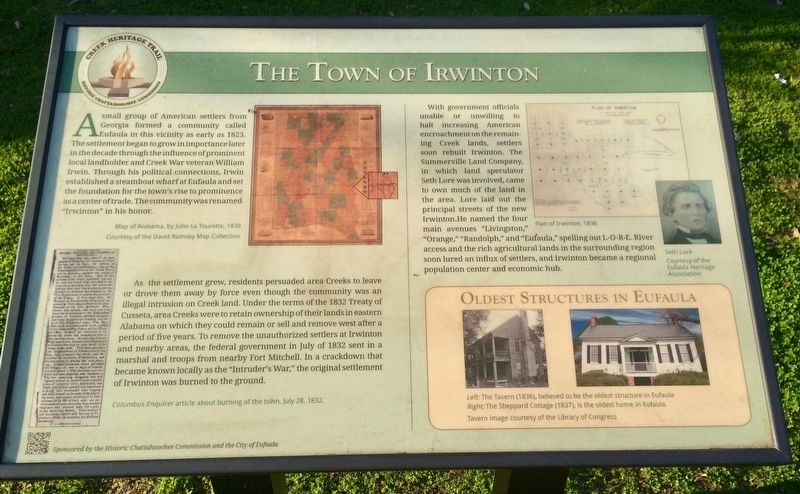 The Town of Irwinton Marker image. Click for full size.
