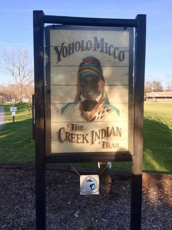Yoholo Micco - The Creek Indian Trail at Broad Street. image. Click for full size.