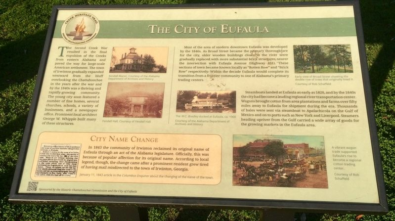 The City of Eufaula Marker image. Click for full size.