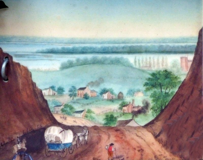 View of Georgetown as it Appeared around 1814 Watercolor by Rebecca Nourse, Dumbarton House image. Click for full size.