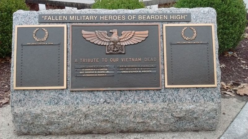 Fallen Military Heroes of Bearden High Marker image. Click for full size.