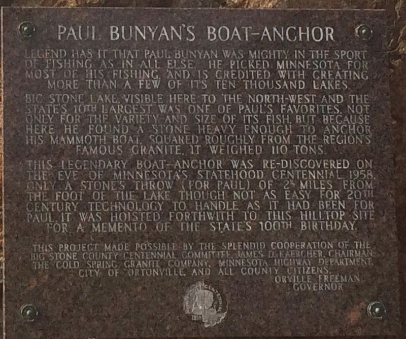 Paul Bunyan's Boat-Anchor Marker image. Click for full size.