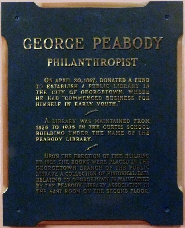 George Peabody<br>Philanthropist image. Click for full size.
