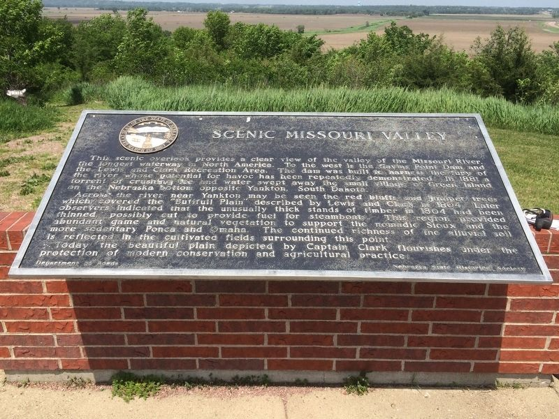 Scenic Missouri Valley Marker image. Click for full size.
