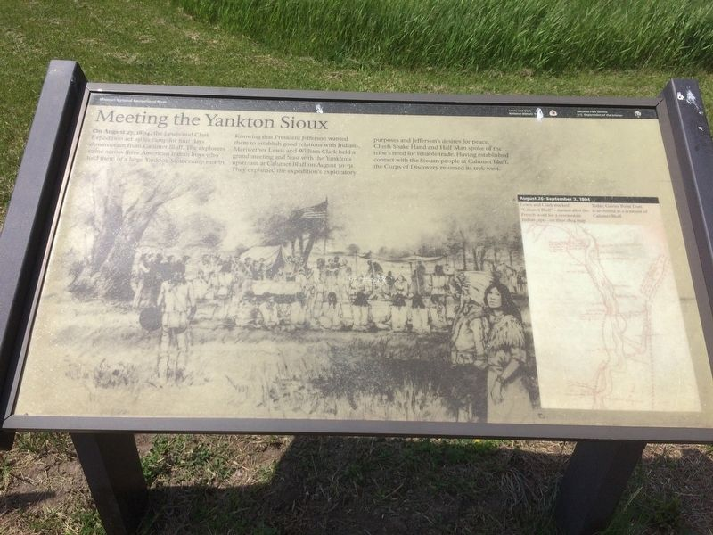 Meeting the Yankton Sioux Marker image. Click for full size.