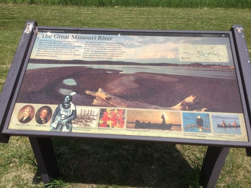 The Great Missouri River Marker image. Click for full size.
