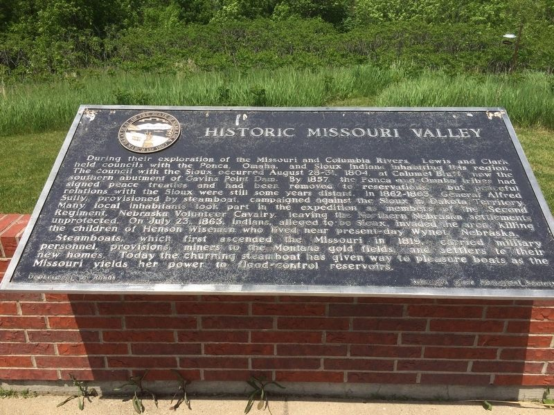 Historic Missouri Valley Marker image. Click for full size.