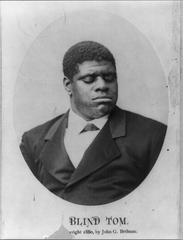 "Thomas Greene Bethune (Thomas ""Blind Tom"" Wiggins) image. Click for full size."